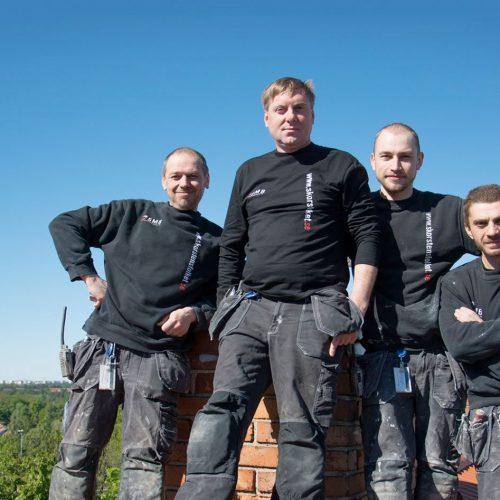 Teamet på Skorstensfolket